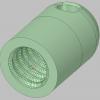 モンベルのロングテイルトレッキングアンブレラの先端キャップ(STLファイル)